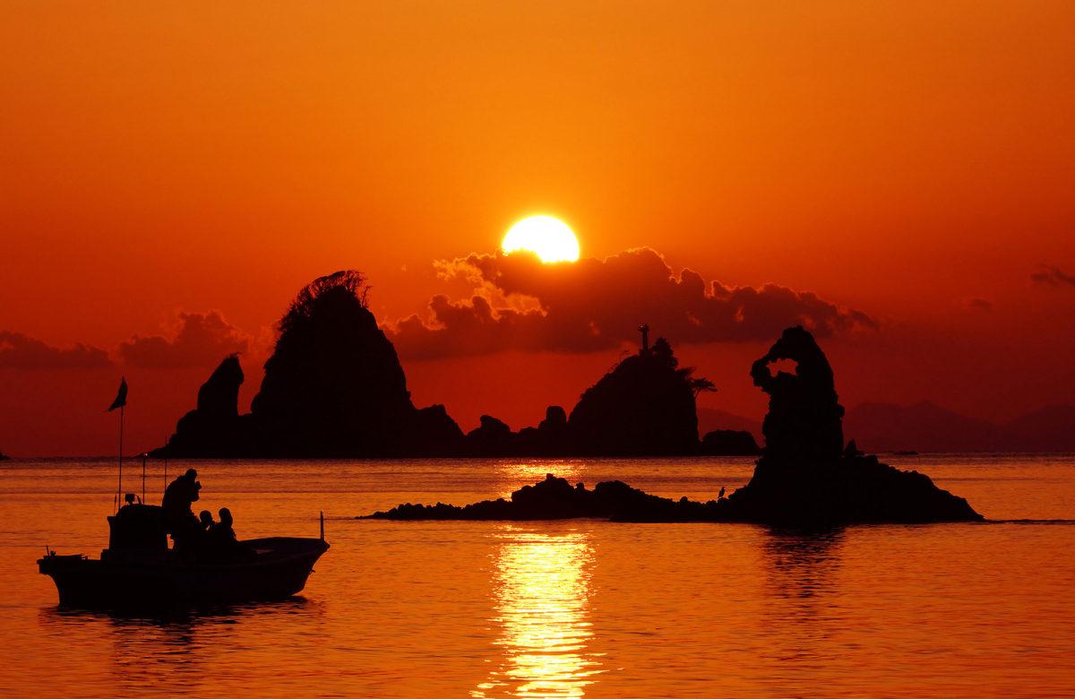 大田子海岸的夕陽